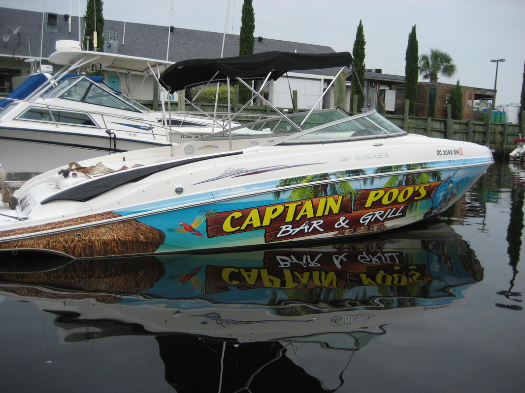 PRODUCTS CUSTOM BOAT LETTERING - Custom vinyl decals for boat